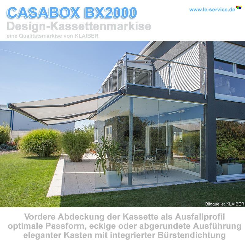 Klaiber Casabox Bx2000 Kassettenmarkise Modernes Design