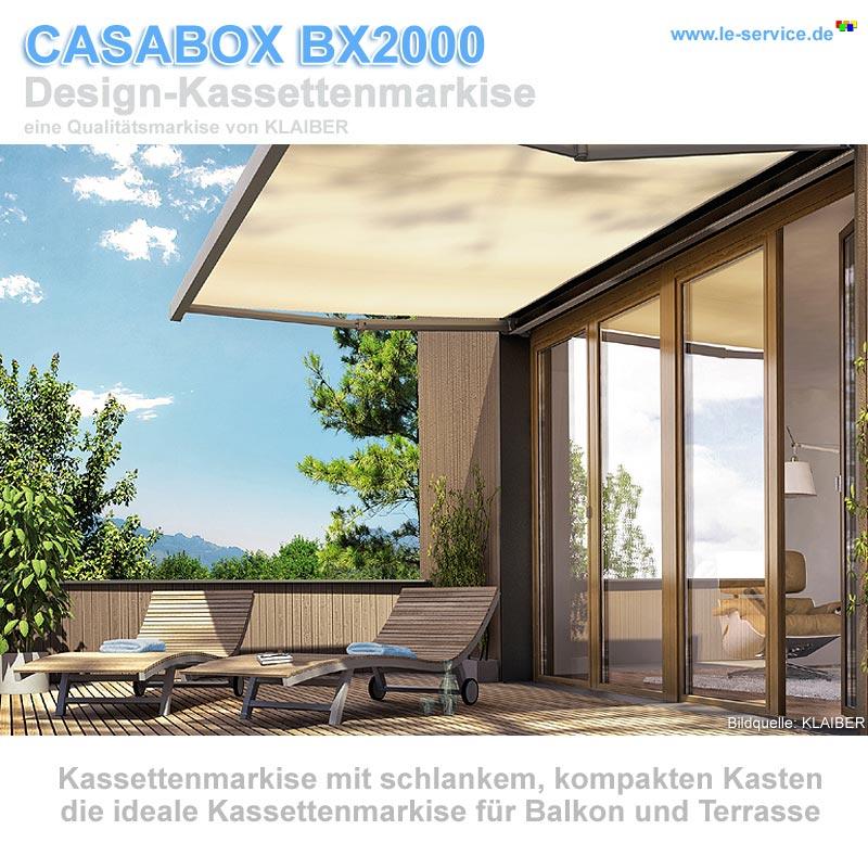 Klaiber casabox bx2000 kassettenmarkise modernes design for Design artikel