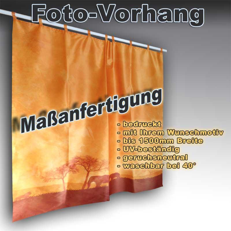 foto vorhang mit schlaufen bedruckt mit wunschmotiv fotodruck. Black Bedroom Furniture Sets. Home Design Ideas