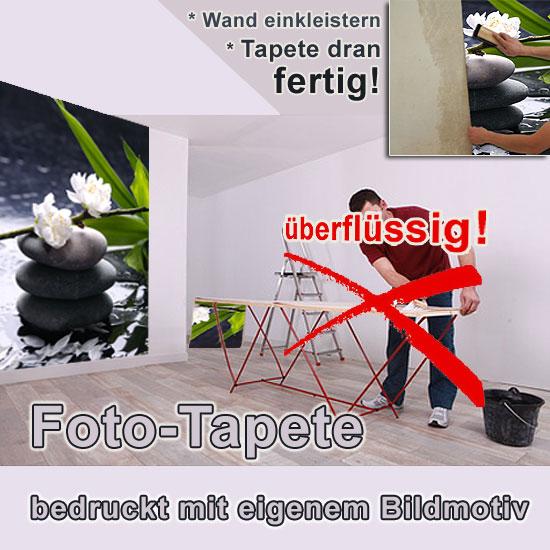 foto tapete mit wunschmotiv vliestapete mit oder ohne struktur. Black Bedroom Furniture Sets. Home Design Ideas