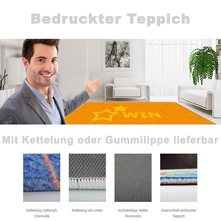 Bedruckter Teppich oder Vorleger mit Wunschbild  le