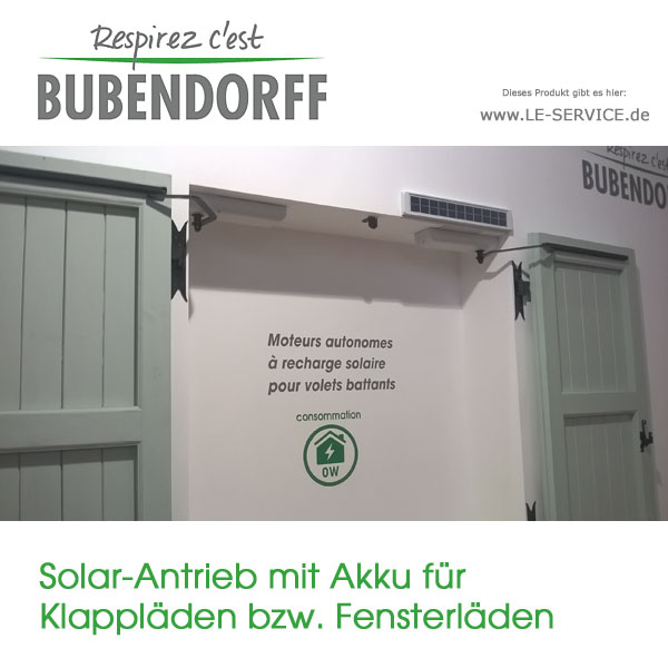 fensterladenantrieb solar mit akku f r klappl den. Black Bedroom Furniture Sets. Home Design Ideas