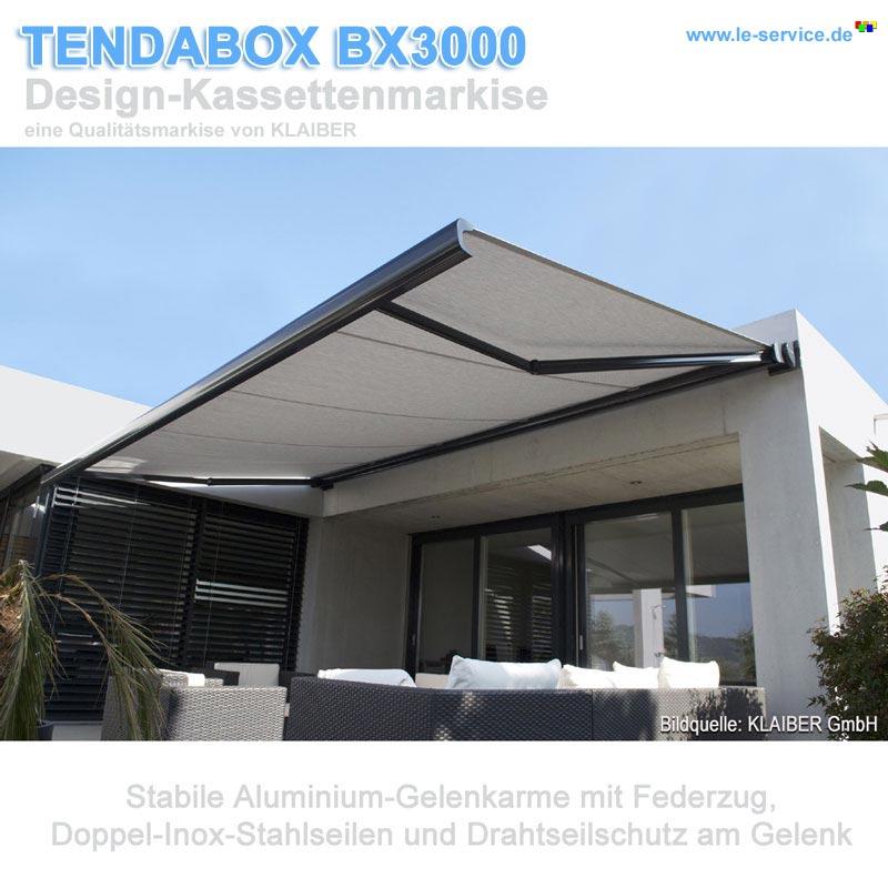 Design kassettenmarkise tendabox bx3000 for Design artikel