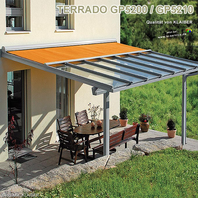 KLAIBER Terrassendach Terrado GP5200 Terrassenüberdachung